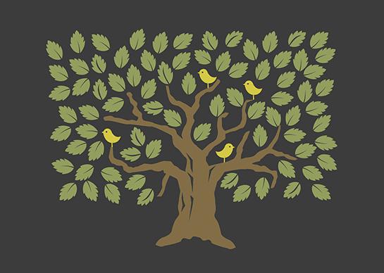 Tree with birds