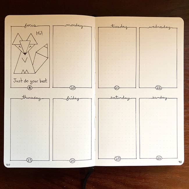 Annie's bullet journal